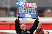 THe Sky Bet EFL Substitution Board during the EFL Sky Bet League 2 match between Lincoln City and Exeter City at Sincil Bank, Lincoln, United Kingdom on 30 March 2018. Picture by Mick Atkins.