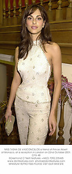 MISS TASHA DE VASCONCELOS a friend of Prince Albert of Monaco, at a reception in London on 22nd October 2001.OTG 48
