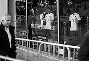 Twickenham, United Kingdom.  Window of the   Supporters shop. RBS, Six Nations : England vs France. at the  RFU Stadium, Twickenham, England, <br /> <br /> Saturday  04/02/2017<br /> <br /> [Mandatory Credit; Peter Spurrier/Intersport-images]