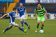 Forest Green Rovers Darren Carter(12) on the ball during the Vanarama National League match between Macclesfield Town and Forest Green Rovers at Moss Rose, Macclesfield, United Kingdom on 12 November 2016. Photo by Shane Healey.