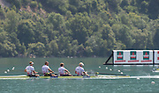 Aiguebelette, FRANCE.   GBR M4- Gold Medallist left  to right,  Alex GREGORY, Mo SBIHI, George NASH and Andy TRIGGS HODGE.   2014 FISA World Cup II, 12:08:35  Sunday  22/06/2014. [Mandatory Credit; Peter Spurrier/Intersport-images]