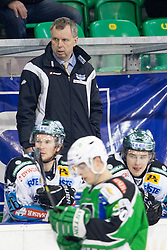 Rob Daum, head coach of EHC Liwest Linz, during ice-hockey match between HDD Tilia Olimpija and EHC Liwest Black Wings Linz in 51st Round of EBEL league, on Februar 5, 2012 at Hala Tivoli, Ljubljana, Slovenia. (Photo By Matic Klansek Velej / Sportida)
