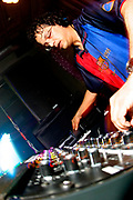 Mark Farina DJing, Valentine's Day Weekend at the Om Monthly at Mezzanine Night Club. San Francisco, California, USA. 2007