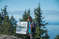 Backroads Trip Leader, Jackson Jewett, Explaining History of Moran State Park, Orcas Island, Washington