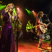 "WASHINGTON, DC - October 10th, 2013 - Hannah Hooper, Sean Gadd and Christian Zucconi of Grouplove perform at The Hamilton in Washington, D.C. The band's 2011 hit ""Tongue Tied"" sold over 1 million copies, was featured in an iPod Touch commercial and was covered on the TV show Glee. (Photo by Kyle Gustafson / For The Washington Post)"