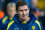 Burton Albion manager Nigel Clough during the EFL Sky Bet League 1 match between Luton Town and Burton Albion at Kenilworth Road, Luton, England on 22 December 2018.