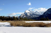 Vermillion Lake toward Mount Rundle and Sulphur Mountain   Photo: Peter Llewellyn