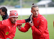 Alexander Dragovich (left) and Marco Arnautovic during Austria training camp ahead of Euro 2016 at Raiffeisen Arena Crap Gries, Schluein<br /> Picture by EXPA Pictures/Focus Images Ltd 07814482222<br /> 23/05/2016<br /> ***UK &amp; IRELAND ONLY***<br /> EXPA-RIN-160523-0192