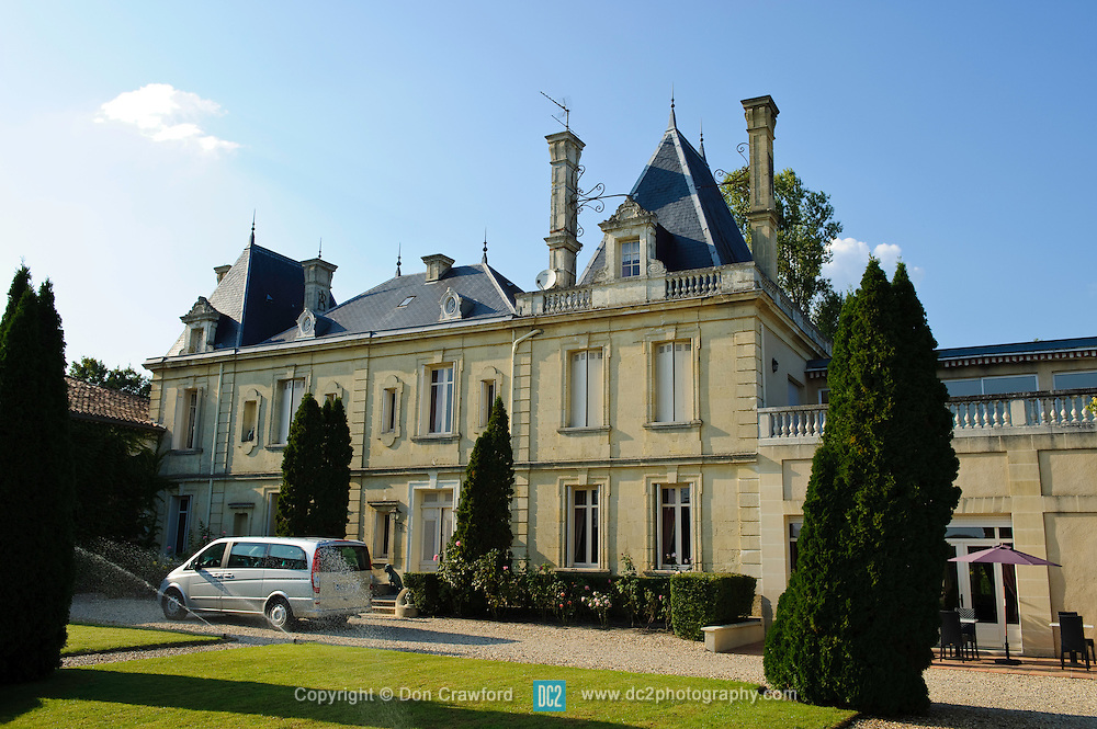 French chateau Le Clos de Meyre, Avensan France.