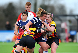 Sarah Bern of Bristol Bears Women in action- Mandatory by-line: Nizaam Jones/JMP - 23/03/2019 - RUGBY - Shaftesbury Park - Bristol, England - Bristol Bears Women v Richmond Women- Tyrrells Premier 15s
