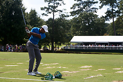 September 22, 2018 - Atlanta, Georgia, United States - Tiger Woods practices before the third round of the 2018 TOUR Championship. (Credit Image: © Debby Wong/ZUMA Wire)