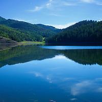 A tranquil alpine lake in the Tushars mountain range of southern Utah - Puffer Lake
