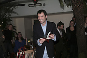 Tom Sykes,  Book launch for ' What Did I Do last night' by Tom Sykes. Century Club. Shaftesbury Ave. London. 16 January 2006. -DO NOT ARCHIVE-© Copyright Photograph by Dafydd Jones. 248 Clapham Rd. London SW9 0PZ. Tel 0207 820 0771. www.dafjones.com.