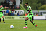 Forest Green Rovers Keanu Marsh-Brown (7) plays a pass during the Vanarama National League match between Forest Green Rovers and York City at the New Lawn, Forest Green, United Kingdom on 20 August 2016. Photo by Shane Healey.