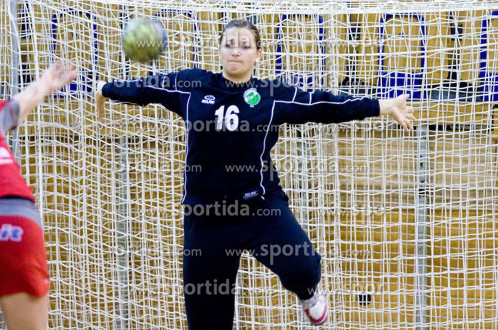 Branka Zec of Olimpija at first finals handball match of Slovenian Women National Championships between RK Olimpija and RK Krim Mercator, on May 16, 2009, in Arena Tivoli, Ljubljana, Slovenia. Olimpija won after 10 years vs Krim Mercator 30:28. (Photo by Vid Ponikvar / Sportida)