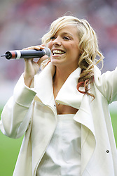 LIVERPOOL, ENGLAND - SUNDAY MARCH 27th 2005: Atomic Kitten sing before the Liverpool Legend v Celebrity XI Tsunami Soccer Aid match at Anfield. (Pic by David Rawcliffe/Propaganda)