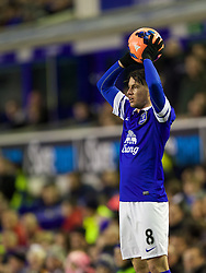 LIVERPOOL, ENGLAND - Saturday, January 4, 2014: Everton's Bryan Oviedo in action against Queens Park Rangers during the FA Cup 3rd Round match at Goodison Park. (Pic by David Rawcliffe/Propaganda)