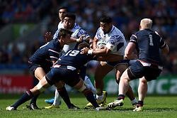 Alafoti Fa'osiliva of Samoa takes on the USA defence - Mandatory byline: Patrick Khachfe/JMP - 07966 386802 - 20/09/2015 - RUGBY UNION - Brighton Community Stadium - Brighton, England - Samoa v USA - Rugby World Cup 2015 Pool B.