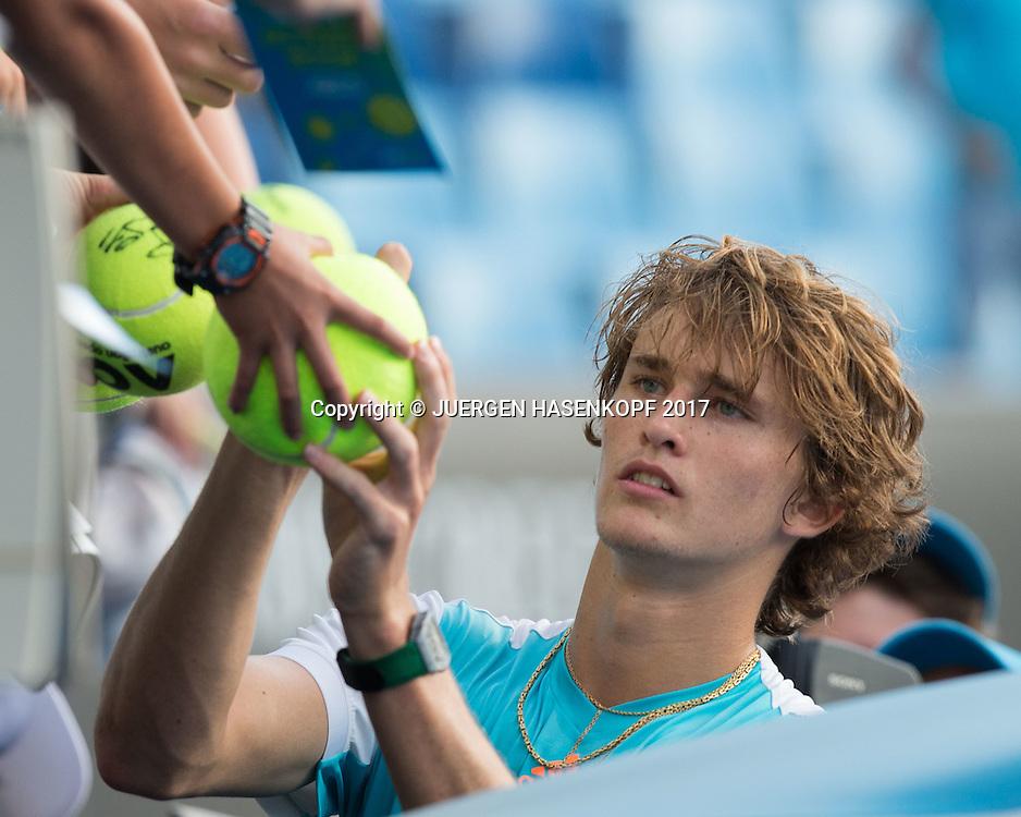 ALEXANDER ZVEREV (GER)<br /> <br /> Australian Open 2017 -  Melbourne  Park - Melbourne - Victoria - Australia  - 19/01/2017.