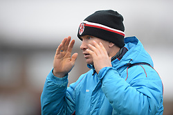 KEVIN WILKIN MANAGER BRACKLEY TOWN, Brackley Town FC v Barrow AFC, Buildbase FA Trophy Saturday 13th January 2018, SCORE 0-0, Photo:Mike Capps/Kappa Sport Pictures