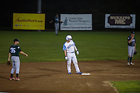 Muskrats v Vermont Mountaineers Augusty 5, 2014 at Robbie Mills Memorial Field in Laconia, NH.  Karen Bobotas for the Laconia Daily Sun