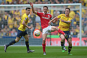 Josh Brownhill (Barnsley) controls the ball during the Johnstone's Paint Trophy Final between Barnsley and Oxford United at Wembley Stadium, London, England on 3 April 2016. Photo by Mark P Doherty.