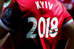 A Liverpool fan with Kiev 2018 on the back of his shirt for the Champions League Final - Mandatory by-line: Robbie Stephenson/JMP - 26/05/2018 - FOOTBALL - Olympic Stadium - Kiev,  - Real Madrid v Liverpool - UEFA Champions League Final