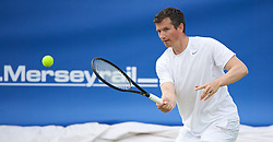 LIVERPOOL, ENGLAND - Sunday, June 21, 2015: Richard Krajicek (NED) during Day 4 of the Liverpool Hope University International Tennis Tournament at Liverpool Cricket Club. (Pic by David Rawcliffe/Propaganda)