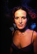 Sofie Anderton wearing low-cut top in London club, U.K, 1999.