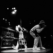 LL Cool J performing live. Philadelphia, USA 1980s