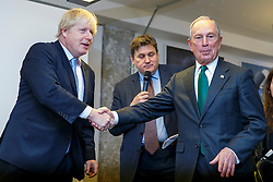 © Licensed to London News Pictures. 16/06/2014. LONDON, UK. Mayor of London Boris Johnson and former New York Mayor Michael R Bloomberg launching the first London Technology Week in central London on Monday, 16 June 2014. Photo credit : Tolga Akmen/LNP