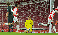 LONDON, ENGLAND - Friday, March 4, 2016: Liverpool's Shamal George looks dejected as Arsenal score the second goal during the FA Youth Cup 6th Round match at the Emirates Stadium. (Pic by Paul Marriott/Propaganda)