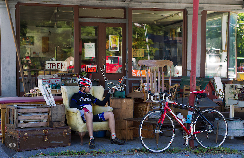 Day three from Booneville to Camden on Sunday, September 7, 2014.  L.E. Baskow