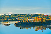 High vantage morning view of Lake Laurentian. Lake Laurentian Conservation Area.<br />Greater Sudbury<br />Ontario<br />Canada
