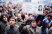 December 26, 1989. Bucharest, Rumania. A demo against Communist dictator Nicolae Ceausescu in front of the Central Committee. (Photo Heimo Aga)