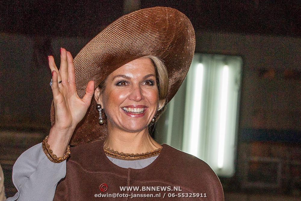 NLD/Amsterdam/20161128 - Belgisch Koningspaar start staatsbezoek aan Nederland, Konigin Maxima