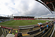 A general view of Sincil Bank Stadium before the The FA Cup fourth round match between Lincoln City and Brighton and Hove Albion at Sincil Bank, Lincoln, United Kingdom on 28 January 2017.