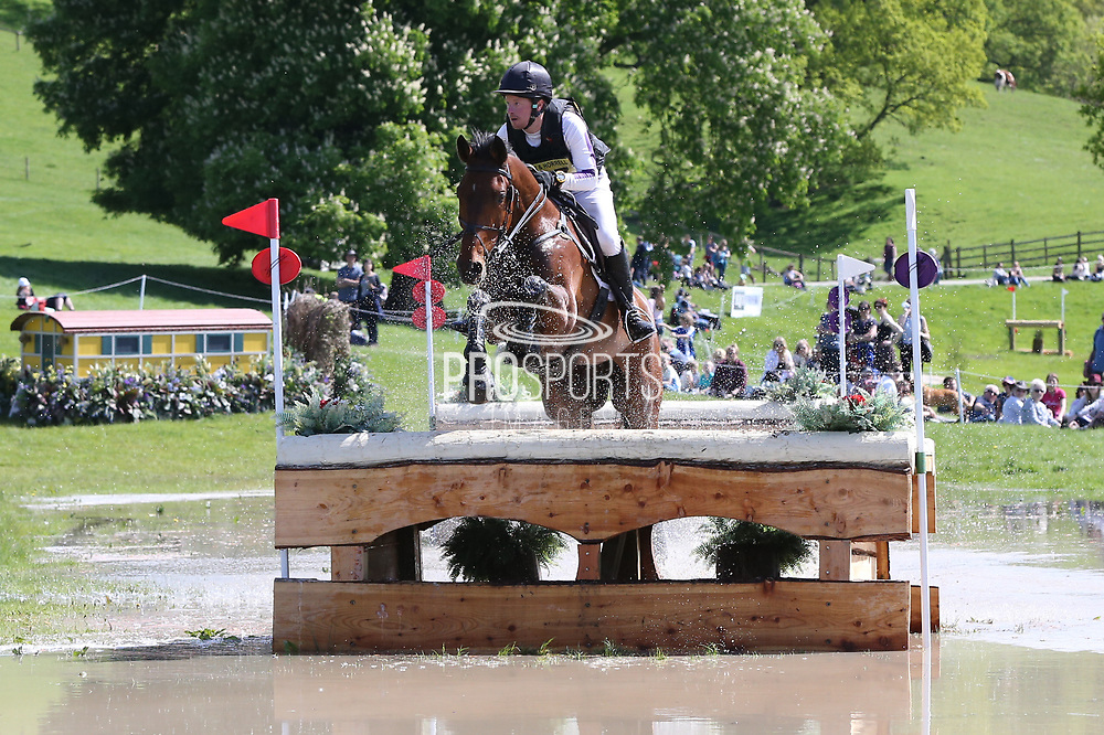 George Hilton-Jones riding Efraim during the International Horse Trials at Chatsworth, Bakewell, United Kingdom on 13 May 2018. Picture by George Franks.