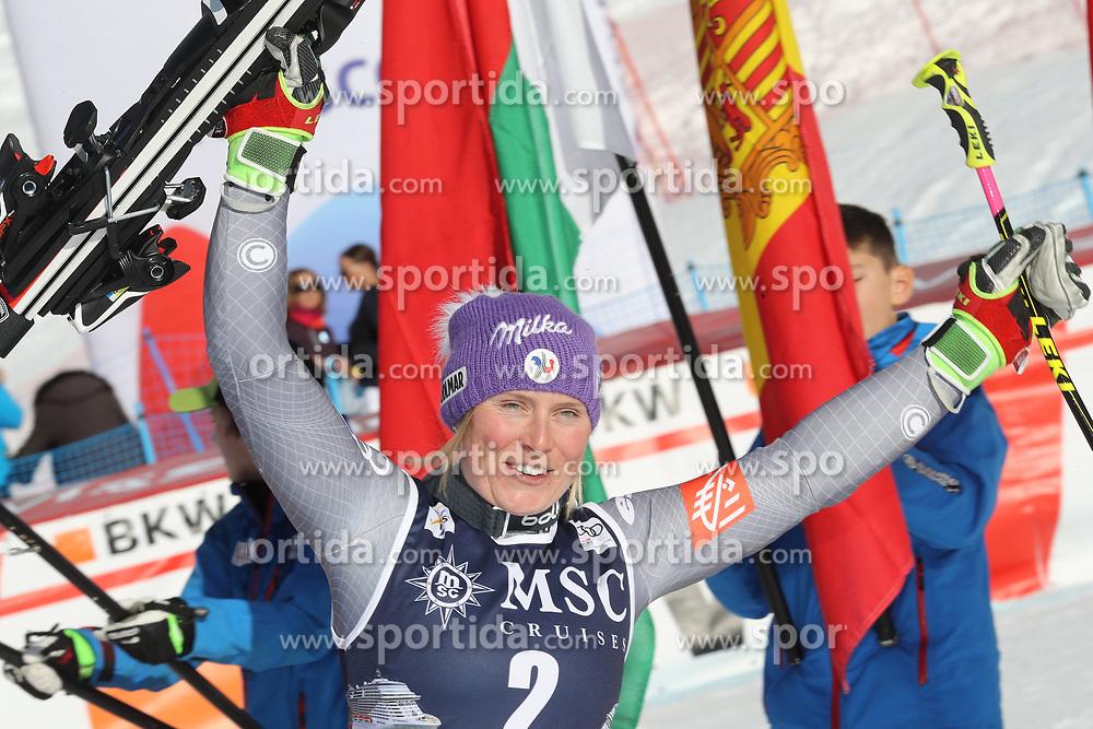 27.01.2018, Lenzerheide, SUI, FIS Weltcup Ski Alpin, Lenzerheide, Riesenslalom, Damen, Flower Zeremonie, im Bild Tessa Worley (FRA) // Tessa Worley of France during the Flowers ceremony for the ladie's Giant Slalom of FIS Ski Alpine World Cup in Lenzerheide, Austria on 2018/01/27. EXPA Pictures © 2018, PhotoCredit: EXPA/ Sammy Minkoff<br /> <br /> *****ATTENTION - OUT of GER*****