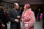 GAVIN TURK; SILVIA ZIRANEK, demons, yarns and tales. Tapestries by Contemporary Artists. Exhibition curated by Banners of Persuasion. The Dairy, Wakefield st. WC1. 11 November 2008.  *** Local Caption *** -DO NOT ARCHIVE -Copyright Photograph by Dafydd Jones. 248 Clapham Rd. London SW9 0PZ. Tel 0207 820 0771. www.dafjones.com