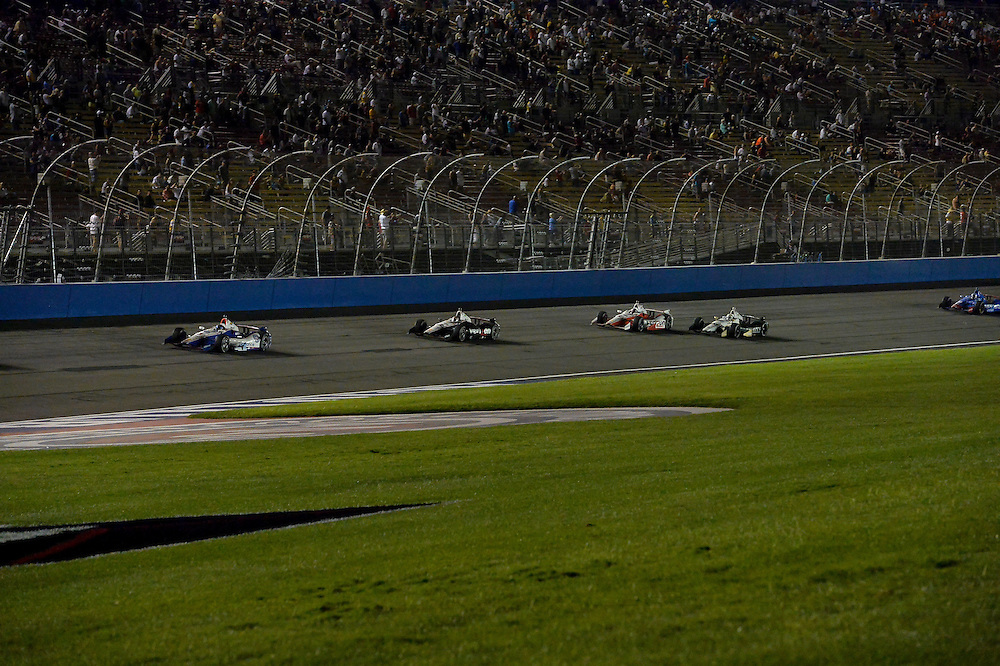 Helio Castroneves, Will Power, Juan Pablo Montoya, Auto Club Speedway, Fontana, CA USA 8/30/2014