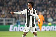 Juventus Forward Juan Cuadrado during the Champions League Group H match between Juventus FC and Manchester United at the Allianz Stadium, Turin, Italy on 7 November 2018.