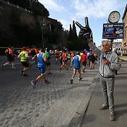 Roma 07/04/2018 <br /> Maratona di Roma 2018 <br /> 24ma edizione<br /> tifosi sul tracciato