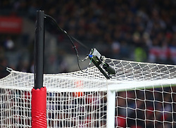 November 10, 2017 - London, England, United Kingdom - First official game in this country to use the technology Video Assistant Referee System (var)..during International Friendly match between England  and Germany  at Wembley stadium, London  on 10 Nov  , 2017  (Credit Image: © Kieran Galvin/NurPhoto via ZUMA Press)