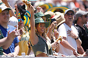 An Aussie fan reacts to David Warner being given not out during the Magellan fourth test match between Australia v England at  the Melbourne Cricket Ground, Melbourne, Australia on 26 December 2017. Photo by Mark  Witte.