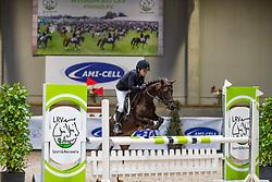 Godrie Ben, BEL, Carina<br /> Nationaal Indoor Kampioenschap Pony's LRV <br /> Oud Heverlee 2019<br /> © Hippo Foto - Dirk Caremans<br /> 09/03/2019
