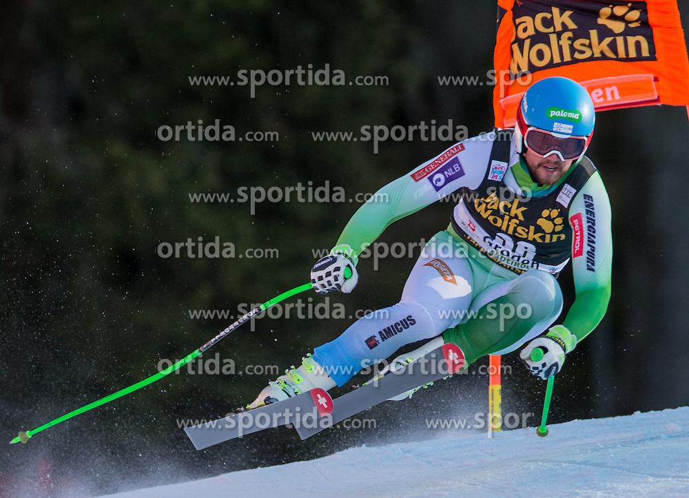 19.12.2015, Saslong, Groeden, ITA, FIS Ski Weltcup, Herren, Abfahrt, Siegerehrung, im Bild Bostjan Kline (SLO) // Bostjan Kline of Slovenia during the award winner ceremony of the men's downhill of Groeden FIS Ski Alpine World Cup at the Saslong Course in Gardena, Italy on 2015/12/19. EXPA Pictures © 2015, PhotoCredit: EXPA/ Johann Groder