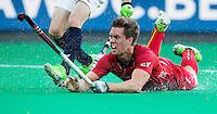 ANTWERP -   Tom Boon fof Belgium tries to score  during  the quarterfinal hockeymatch   Belgium vs France.   WSP COPYRIGHT KOEN SUYK