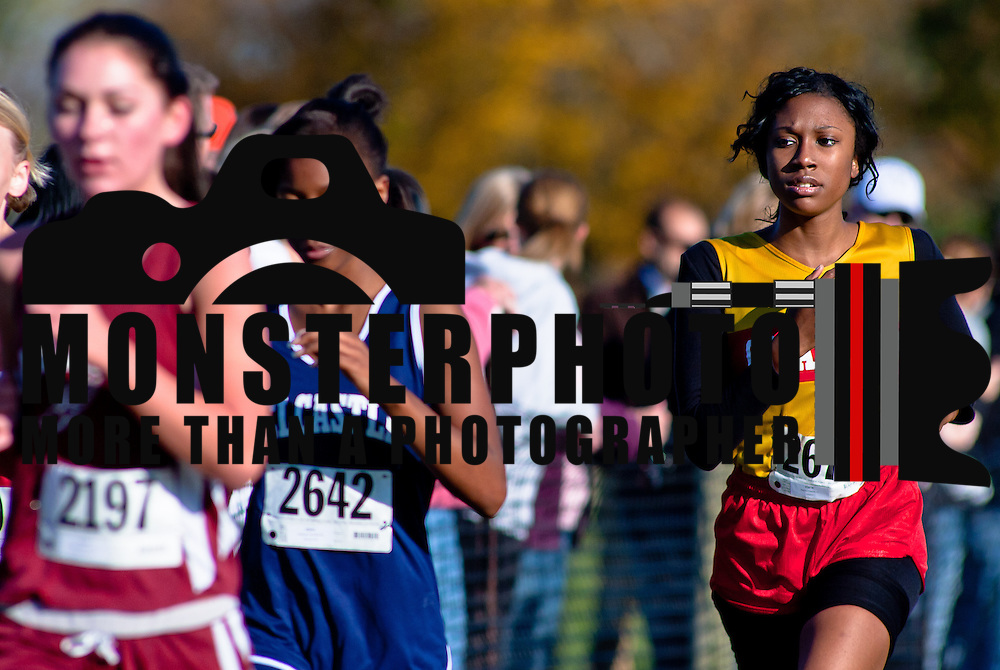 11/05/11 Wilmington DE: Girls cross country varsity participants running the Winterthur Estate curse during the New Castle County high school cross country Championship Sat, Nov. 05, 2011 at  Winterthur Estate in Wilmington Delaware.<br /> <br /> Special to The News Journal/SAQUAN STIMPSON