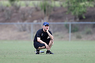 CARY, NC - MAY 10: Head coach Paul Riley. The North Carolina Courage held a training session on May 10, 2017, at WakeMed Soccer Park Field 7 in Cary, NC.